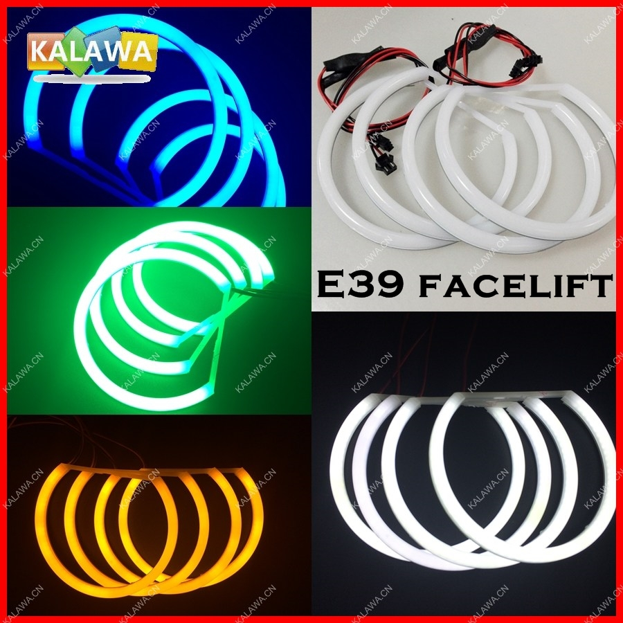 2015 Upgrade LED angel eye rings case for B.MW E39 facelift 99-04 (131mm+146mm) Headlights DRL A1 Freeshipping GGG(China (Mainland))