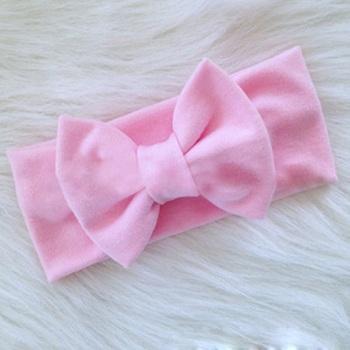 1 Pcs Baby Girls Cotton Bow Hairband Kids Headband Stretch Turban Knot Head Wrap Hair Bands Hair Accessories