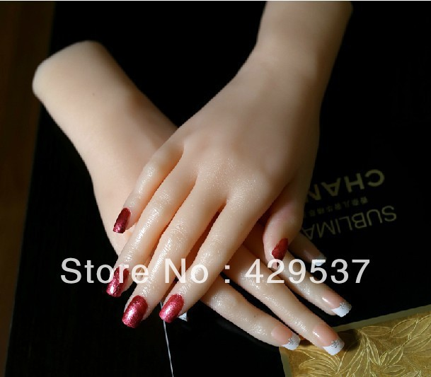 Top Quality Solid Silicone Woman Hands,Sexy Woman Hands with Nail Model,Sex Doll Real Skin,Sex Doll,Hands for Displaying,JSH-003(China (Mainland))