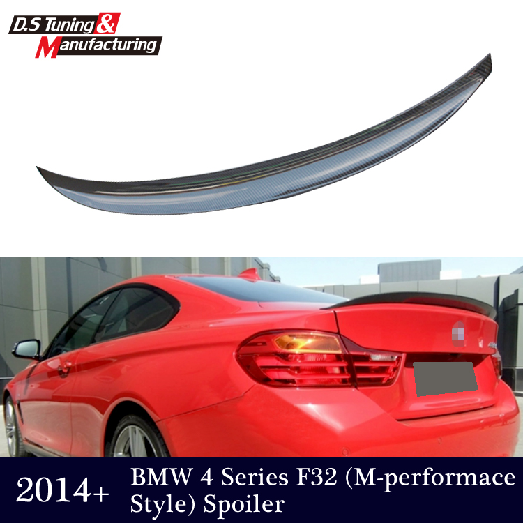 M performance style carbon fiber rear trunk wing spoiler for bmw 4 series f32 coupe 2014 2015 2016 420i 428i 435i 418d 420d(China (Mainland))