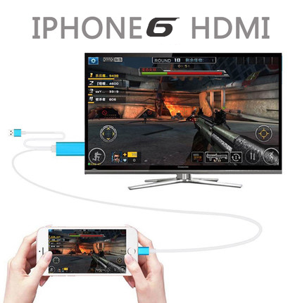 2016 NEW 1080p hdtv adapter for iphone 6s 6 SE hdmi CABLE Iphone5 mobile phone to TV video audio output cellphone converter BOX(China (Mainland))