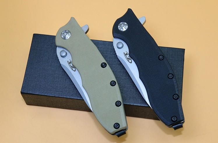 Buy Hot! High Quality 59-60HRC 9CR13MOV Blade,G10+titanium handle folding knife camping knife hunting flip pocket knife EDC tools cheap
