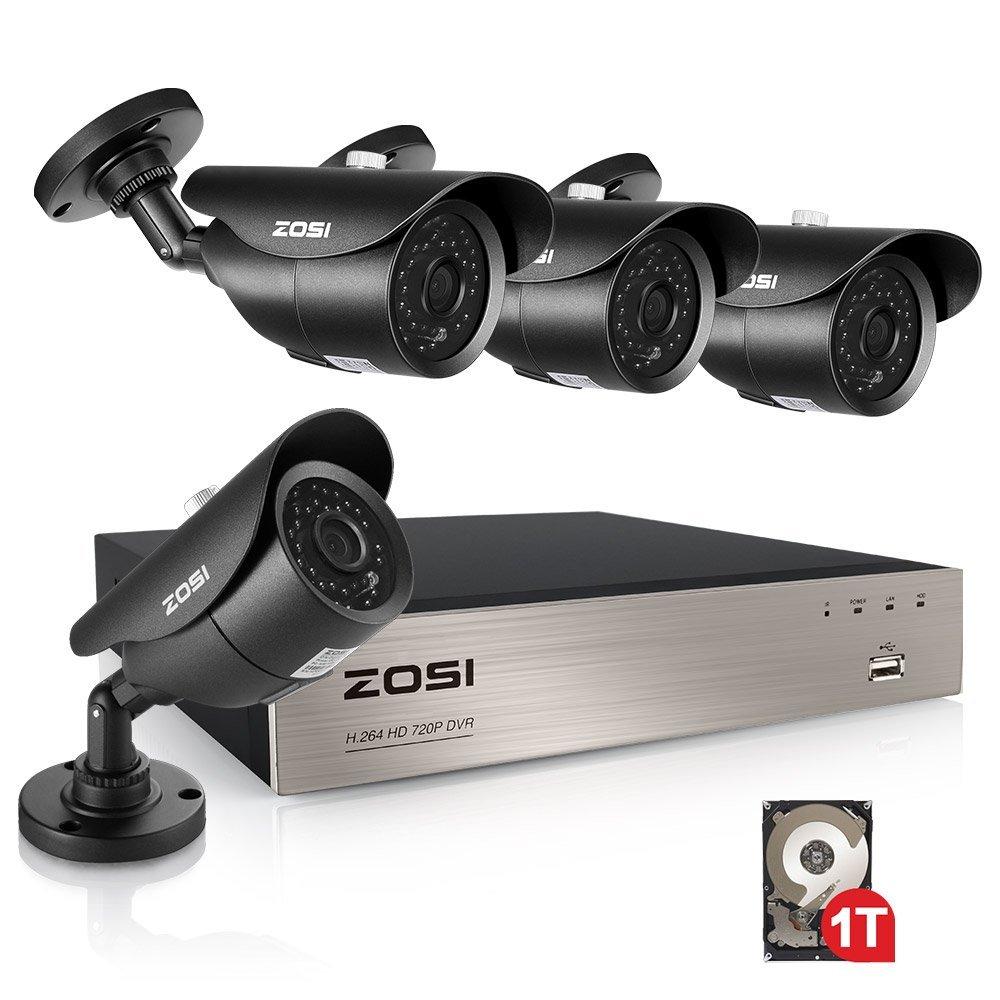 ZOSI 8CH CCTV System 1080P DVR 4PCS 1500TVL IR Weatherproof Outdoor Video Surveillance Home Security Camera System 8CH DVR Kit(China (Mainland))