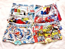 boys underwear 6 pcs/lot Children's cotton underwear baby cartoon boy boxers panties shorts boxer clothings xy-002(China (Mainland))