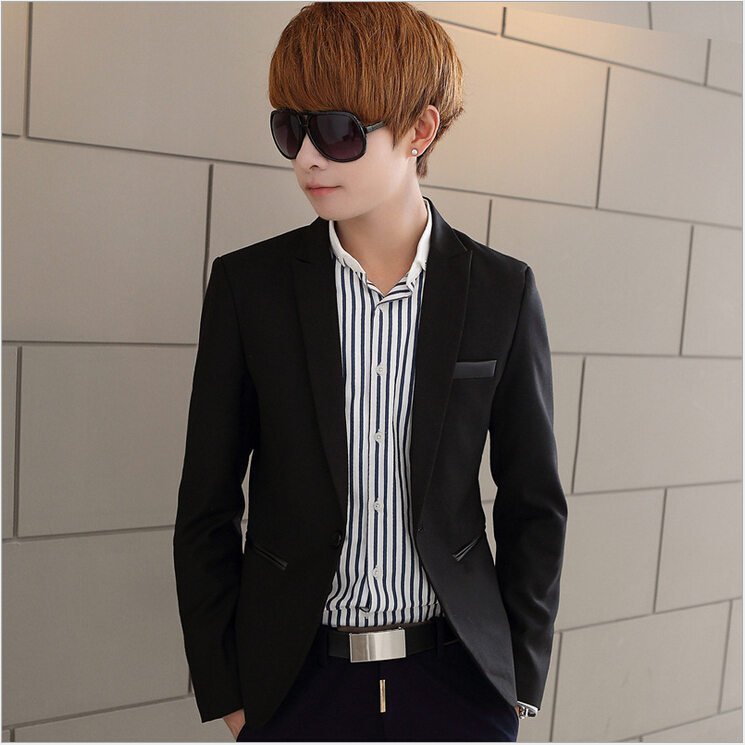 Hot!!!2015 Small suit han Edition Cultivate Ones Morality High-end Mens Fashion Suit Jacket Mens College Coat Black M-4XLОдежда и ак�е��уары<br><br><br>Aliexpress