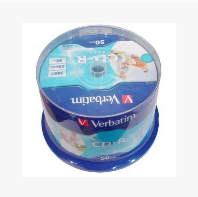 Verbatim CD printable blank cd-r disc burning 52x platinum can print plate 700MB 12cm(China (Mainland))