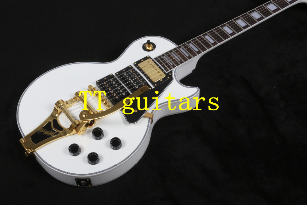 HOT 2015- Hot selling!!!1957 3 pickups electric guitar G LP Custom shop white color beauty electric guitar<br><br>Aliexpress