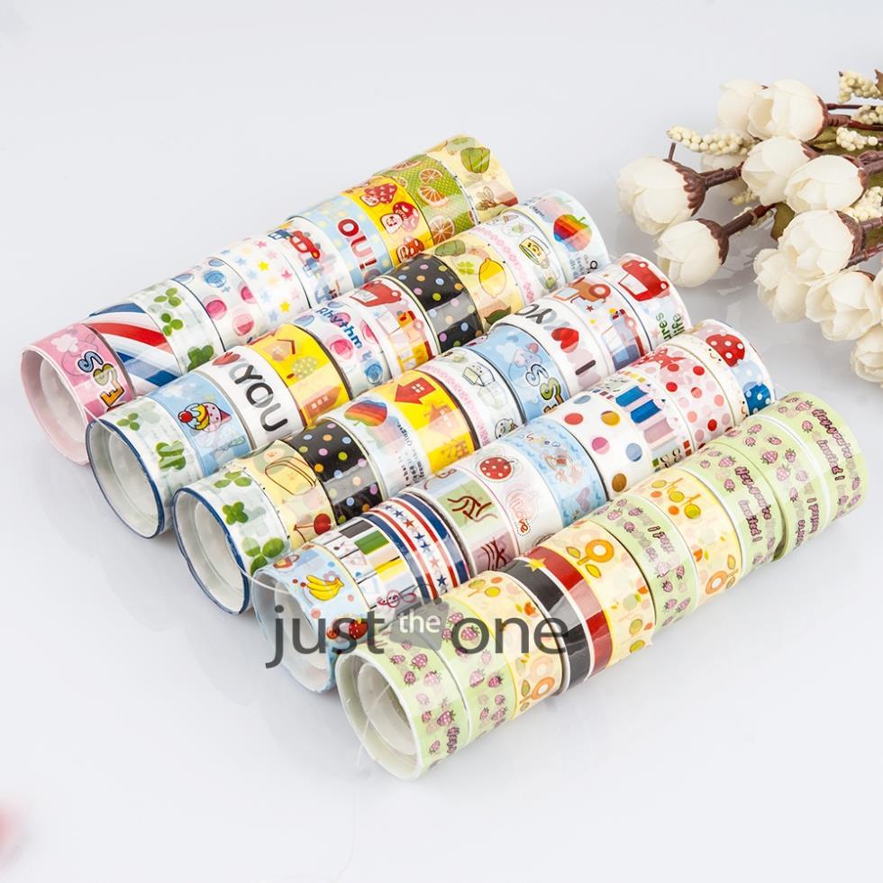 2015 NewWholesale 10 pcs lot Pretty kawaii Cute Cartoon DIY Adhesive Tape Sticky Washi Scrapbooking Sticker 25 New(China (Mainland))