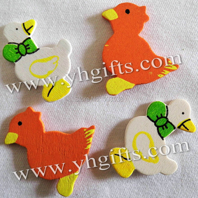 1000PCS/LOT.Wood duck & chick stickers,DIY toys,Wall decor,Easter crafts,Kids toys.Plant decoration.2 design.wholesale.OEM