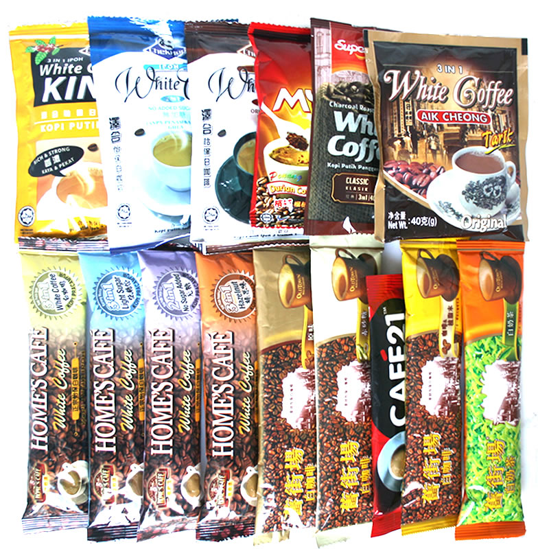 Free shopping Malaysia ipoh white coffee white old street field 15 package tea comprehensive package