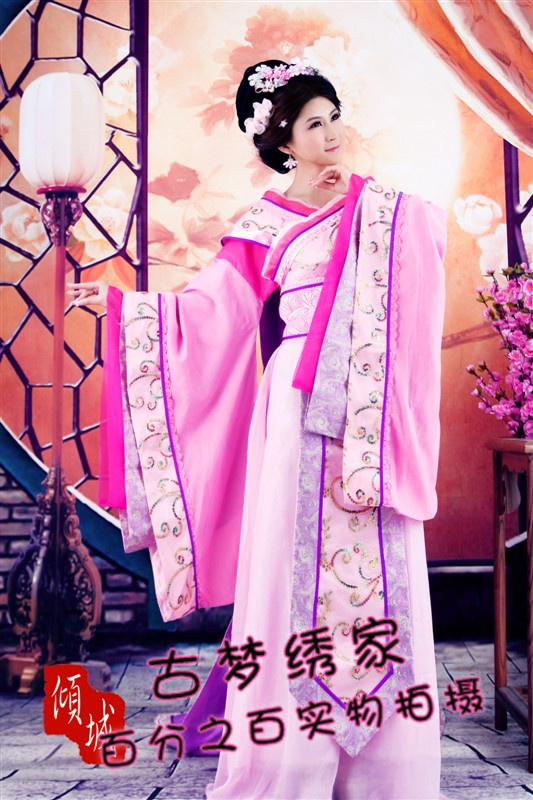 China ancient Tang dynasty costume hanfu train queen princess clothes fairy female(China (Mainland))