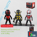 3Pcs lot Ant man Action Figures Collectible Model toys Q version Eyes glow Antman Avengers Classic