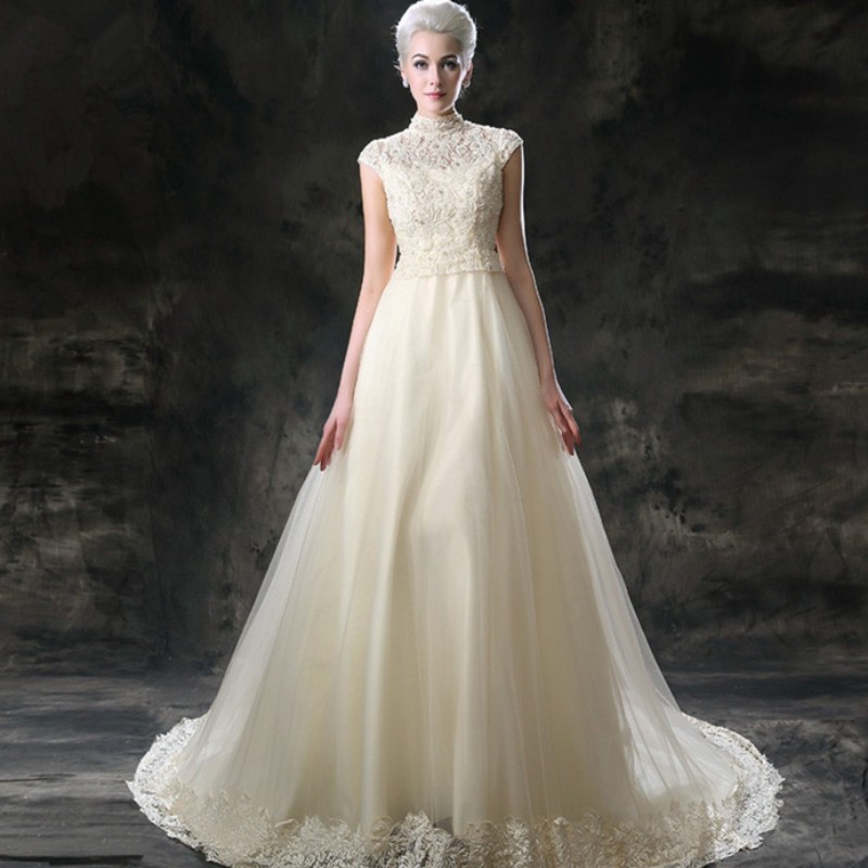 Cathedral Wedding Gowns: 2015 Luxury Wedding Gowns Cathedral / Royal Train Wedding