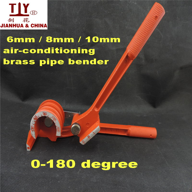 6mm / 8mm / 10mm air-conditioning brass pipe bender hand tools copper tube aluminum tube bender manual pipe bender(China (Mainland))