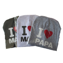Newbaby Kids Caps Infant Cotton Baby Hats Beanies Cap Toddler Boys Girls I love Mom And Dad Cap(China (Mainland))