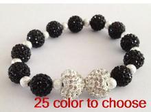 10mm new style handmade multicolor mixed ab clay heart disco ball spacer charm Beads Crystal Shamballa Bracelets women lot(China (Mainland))