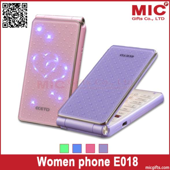 Flip flash light heart unlocked Dual SIM card women kids girls lady lovely cute cell mobile music phone E0180 P241(China (Mainland))