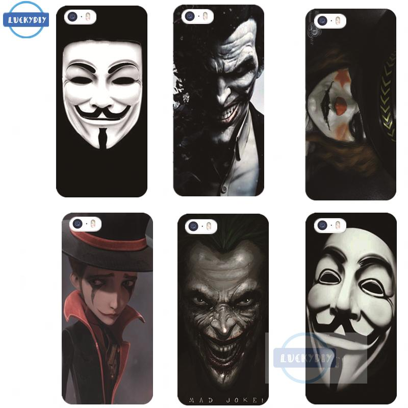 New Clown BuffoonFor iphone 5 5S SE Case ultra slim soft Silicone Tpu Plastic case coloured drawing Paint cartoon Paint cover(China (Mainland))