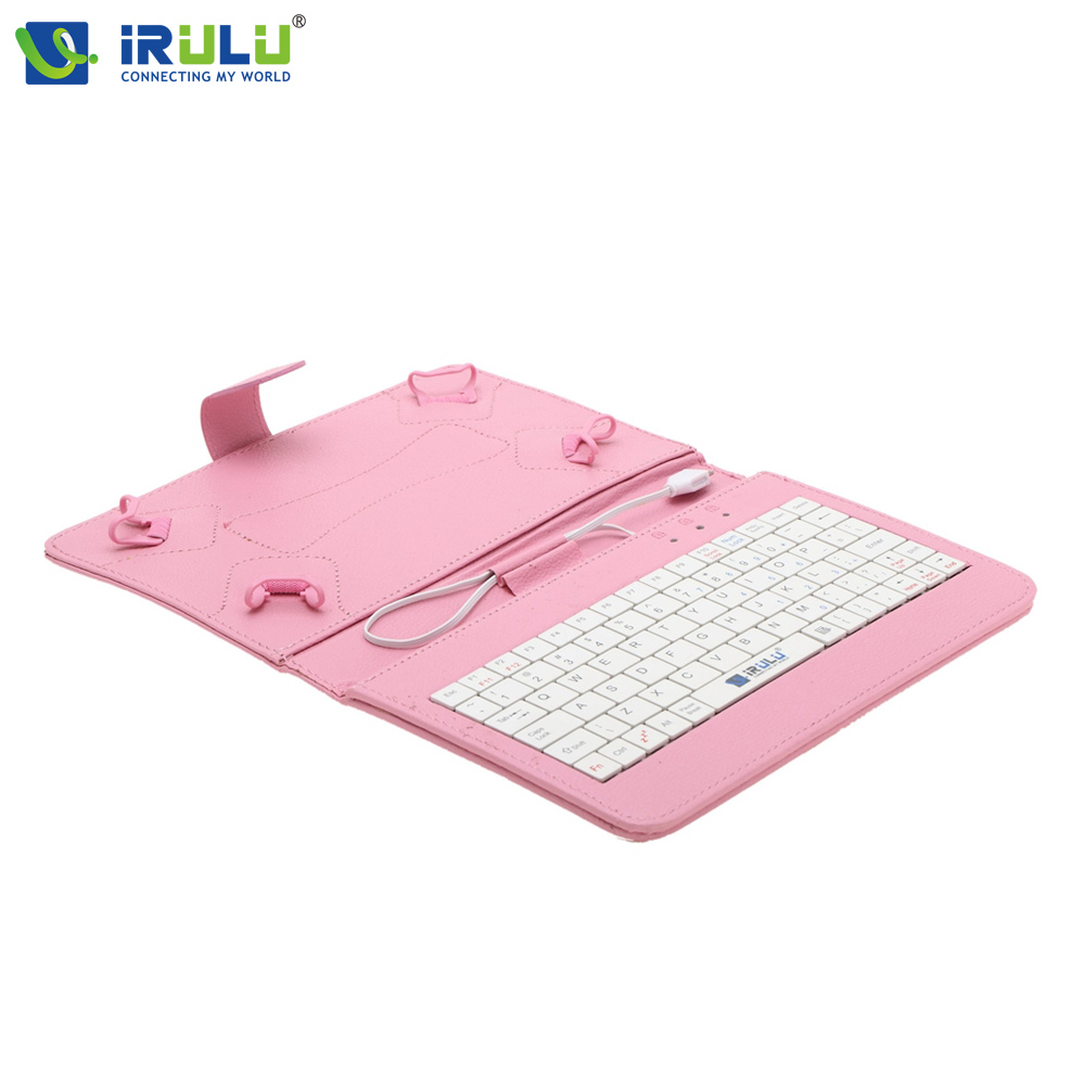 "iRULU High end Best quality Fashion 7"" Universal Tablet PC Case Best Folding Folio Keyboard PU Leather Cover Funda Shell Capa(China (Mainland))"