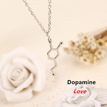 Dopamine necklace mean love Molecular Formula pendant jewelry Chemical Formula Geek necklace Science Student T Steel