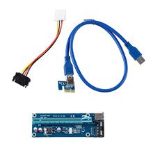 IMC Hot USB 3.0 PCI-E Express 1x to 16x Extender Riser Card Adapter(China (Mainland))