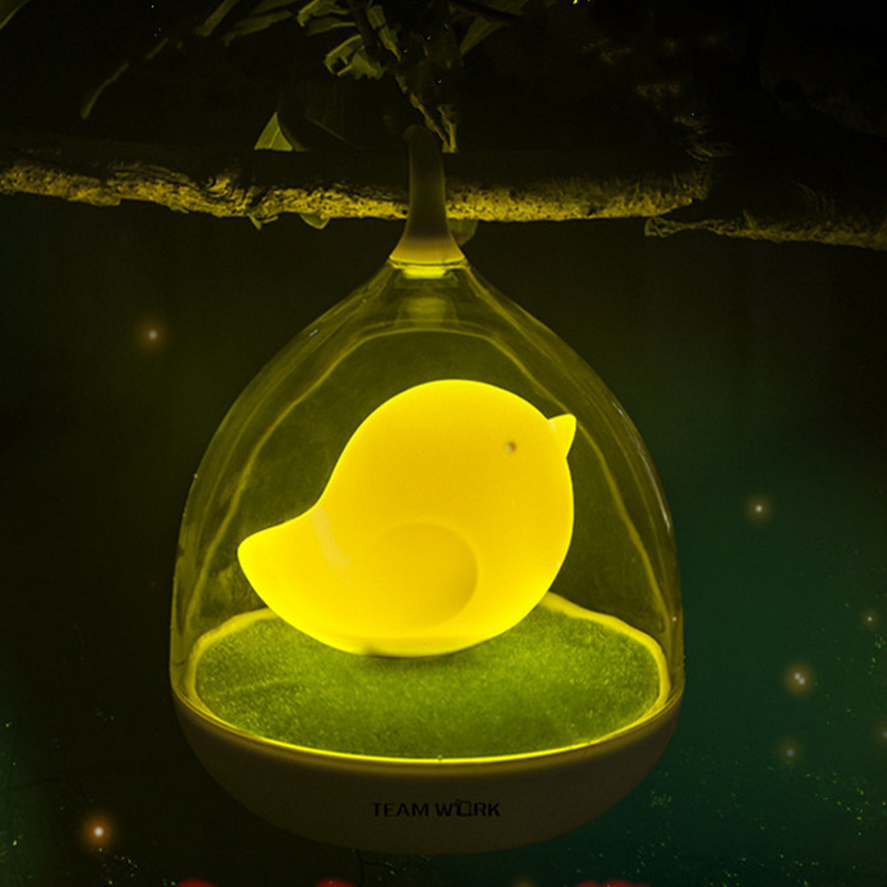 Touch night light novelty cage, night light for children, with a USB charging switch dimmer bedside lamp, 140 * 170mm<br><br>Aliexpress