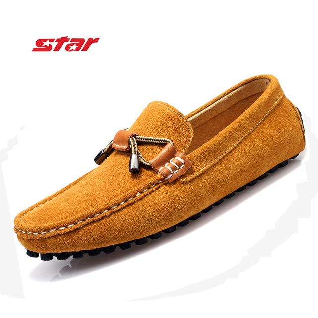 Новый цвет мода весна осень мужчин бездельников замши мужчины квартиры мокасины обувь ...