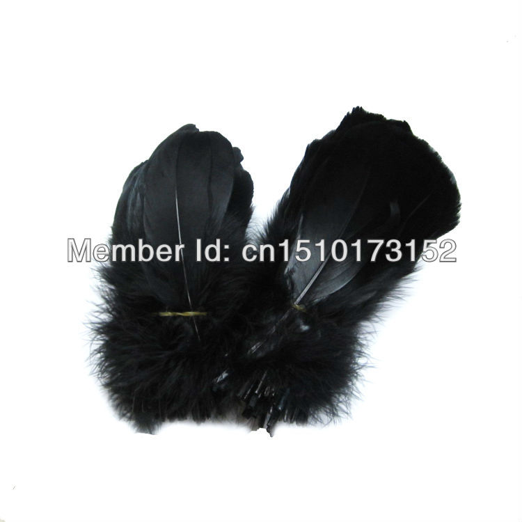 20lot Black Soft Rod Goose plume feathers 5-7inches/13-18cm Crafting RP-2 - TiTi Feather Market store
