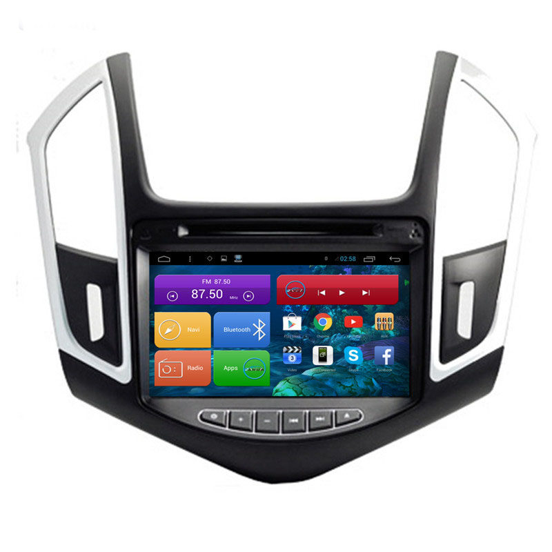 Brand New 1024*600 8 inch Quad Core Android 4.4 Car PC for Chevrolet Cruze Car DVD Multimedia Player(China (Mainland))