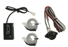 Free shipping Car Reverse Backup Radar Electromagnetic parking sensor,with 2 antennas tapes,no drilled Parking Assistance(China (Mainland))