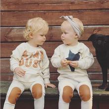 Hot selling autumn children's clothing 2pcs/set kids star style clothing set baby girls boys cotton Beige long sleeve suit(China (Mainland))