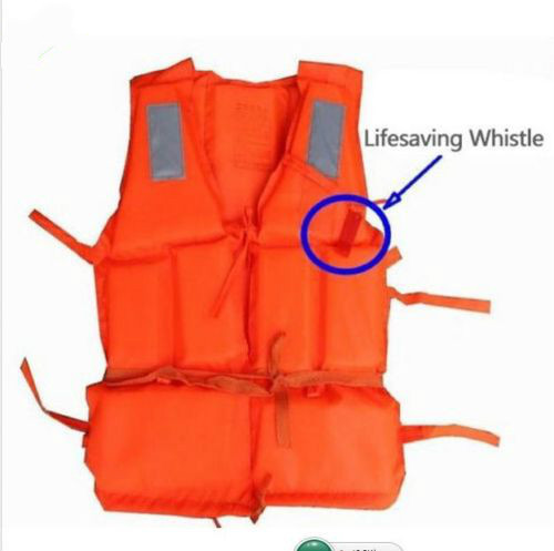 Wholesale Orange Foam Swimming Life Vest + Lifesaving whistle for adult men/women Foam Buoyancy Vest Lifejacket(China (Mainland))