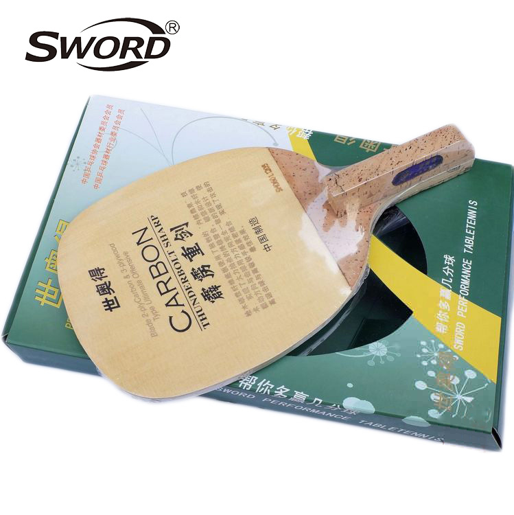Sword Thunderbolt Sharp Carbon Fast-Attack Table Tennis Blade (Japanese penhold) for PingPong Racket(China (Mainland))