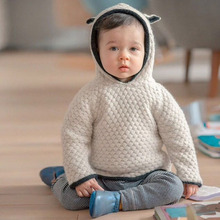 2016 High Quality Designer Knitted Baby Sweaters Autumn Winter Cotton 3D Rabbit Baby Boys and Girls Sweater Clothing for 1-4y(China (Mainland))