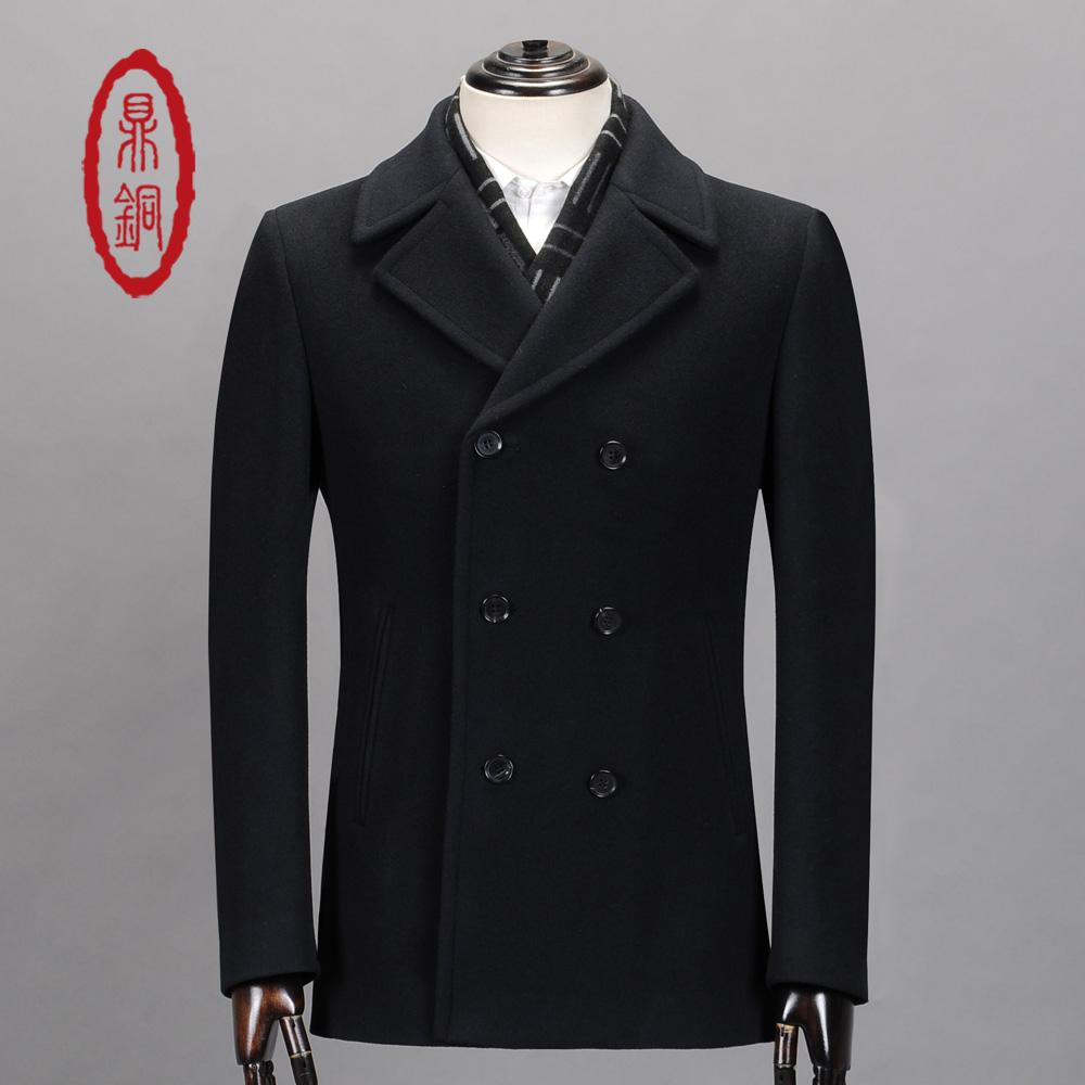 100 Wool Pea Coat Men