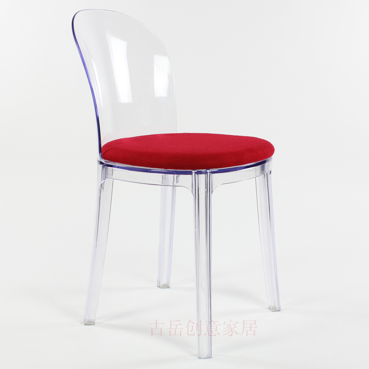 fashion crystal clear acrylic chairs chair cafe leisure club reception