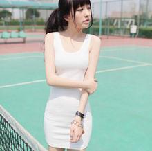 2016 New Arrive Fashion Women Sleeveless Bodycon Cotton Blend Long Tshirt Tank Top Women Vest 6W0815 Free Shipping(China (Mainland))