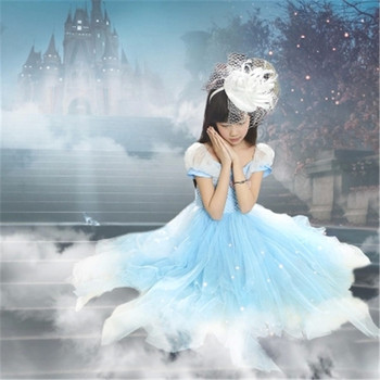 2015 New Cinderella children kids girls Dress Cinderella Children girls Cosplay Dresses Kids Party Fancy dress Clothing 3-12T