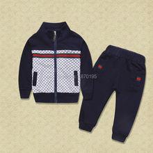 Children's clothing sets baby girls boys cotton sports suits sets kids fashion tracksuit boys brand sweatshirt+pant fashion sets