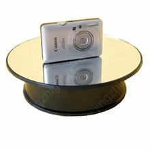 200 мм зеркальное стекло поворота демонстрационный стенд поворотный дисплей поворотный стол для ювелирных изделий и мобильный телефон