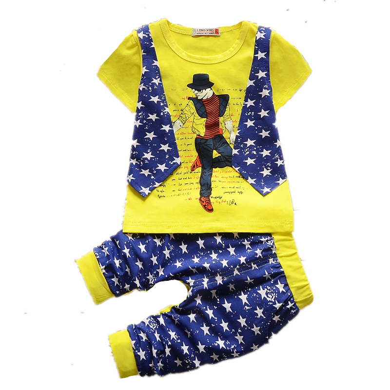 baby boys children clothing sets Summer short-sleeved t-shirt baby boy clothes Leisure the vest shorts 2pcs/set kids Sport suit(China (Mainland))