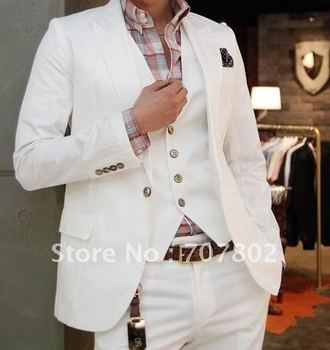 Promotions!! Men's Suit/Italian Slim sportsman Sword Set white collar single button suit leisure suit,Only Jacket