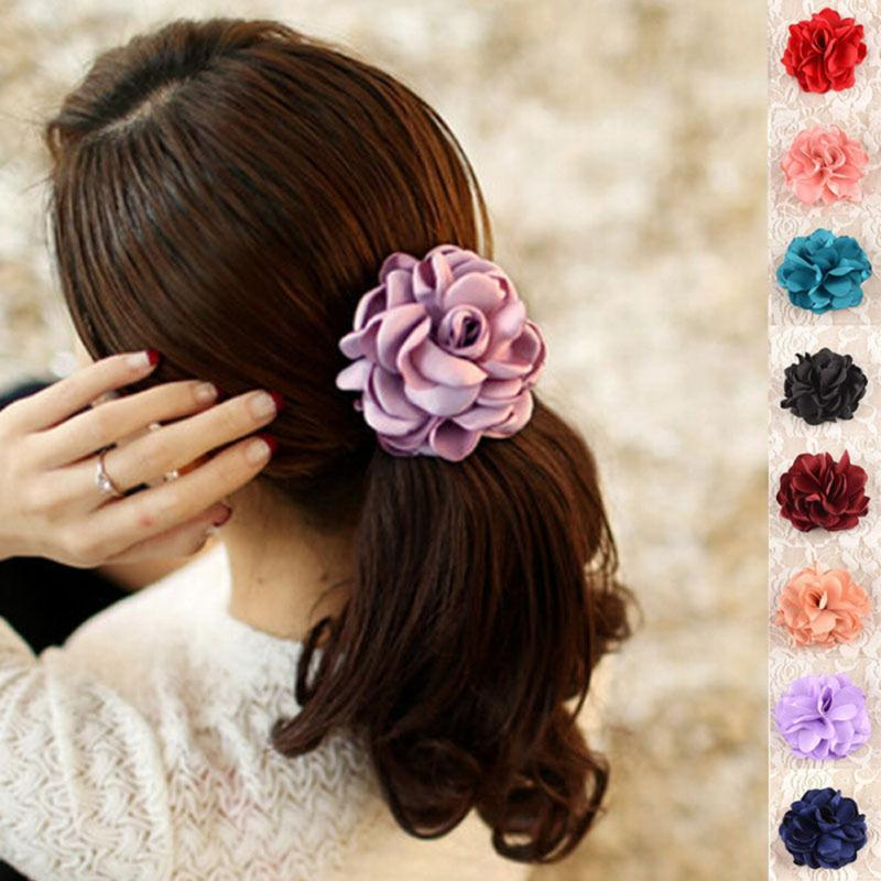 1 Pc 8 Color Flower Elastic Head Bands Bohemia Handmade Fashion Head Accessories for Women Summer Style Jewelry(China (Mainland))