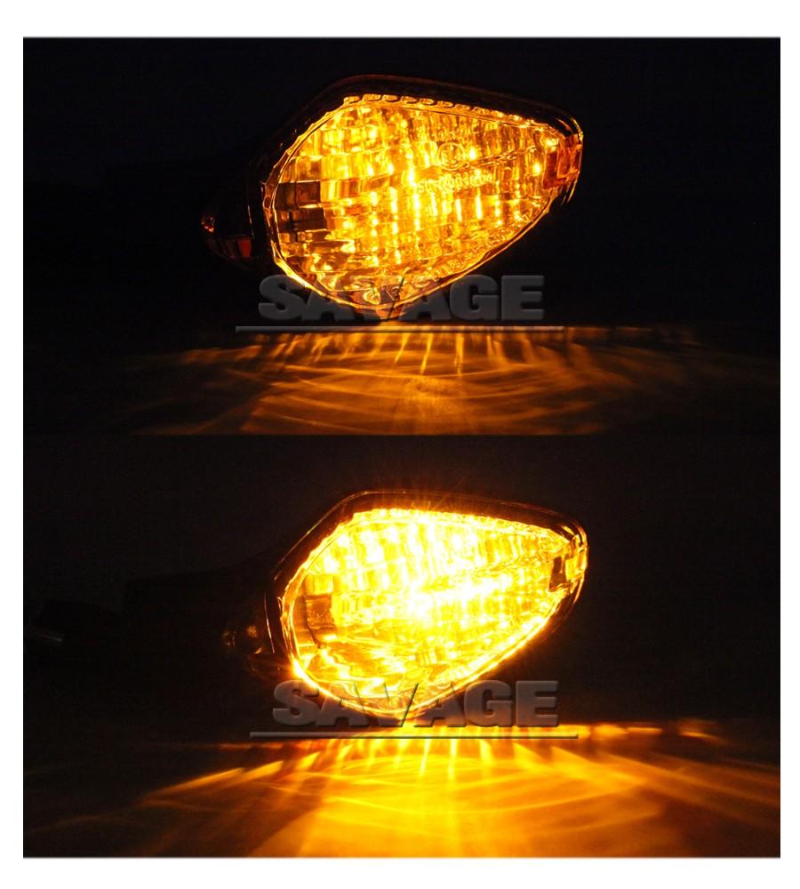 Купить Для HONDA CBR400R CB400X CB400F CB650F CBR650F ЦБ РФ 400R/650F Дым Мотоцикл Аксессуары Задний сигнал Поворота Индикатор Свет Лампы