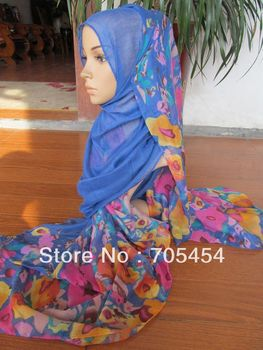 tc200 muslim long scarf arabic hijab scarf islamic long shawls with flowers free shipping,fast delivery,assorted colors