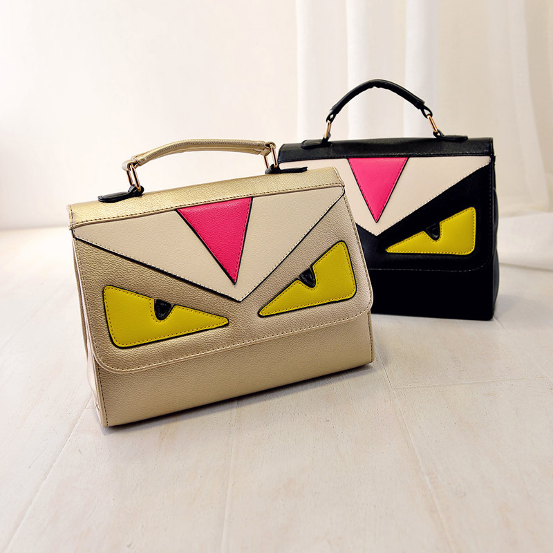Women Bag Fashion Lady Style PU Leather Solid Color Little Monsters Satchels Handbag Messenger Bag//Samly MD201 - JamesZhang store