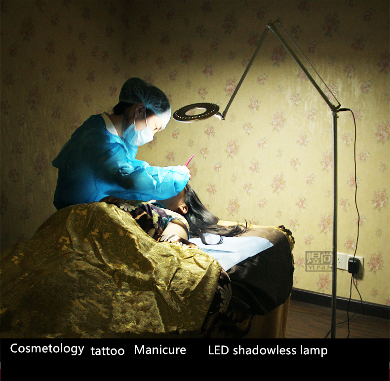 110-220V LED beauty ring Manicure lamp cold light shadowless lamp +magnifier surgical operating lamp LED Floor lamp(China (Mainland))