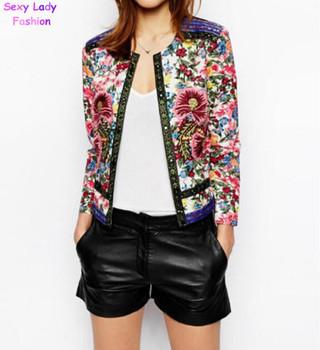 Старинные этническая о шеи вышивка контрастность цветочным принтом пейсли куртка ...