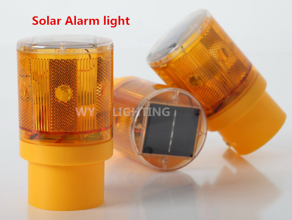 Traffic Warning Light Led Solar Signal Beacon Lamps Industrial Road Lightsoutdoor lighting led solar alarm light(China (Mainland))