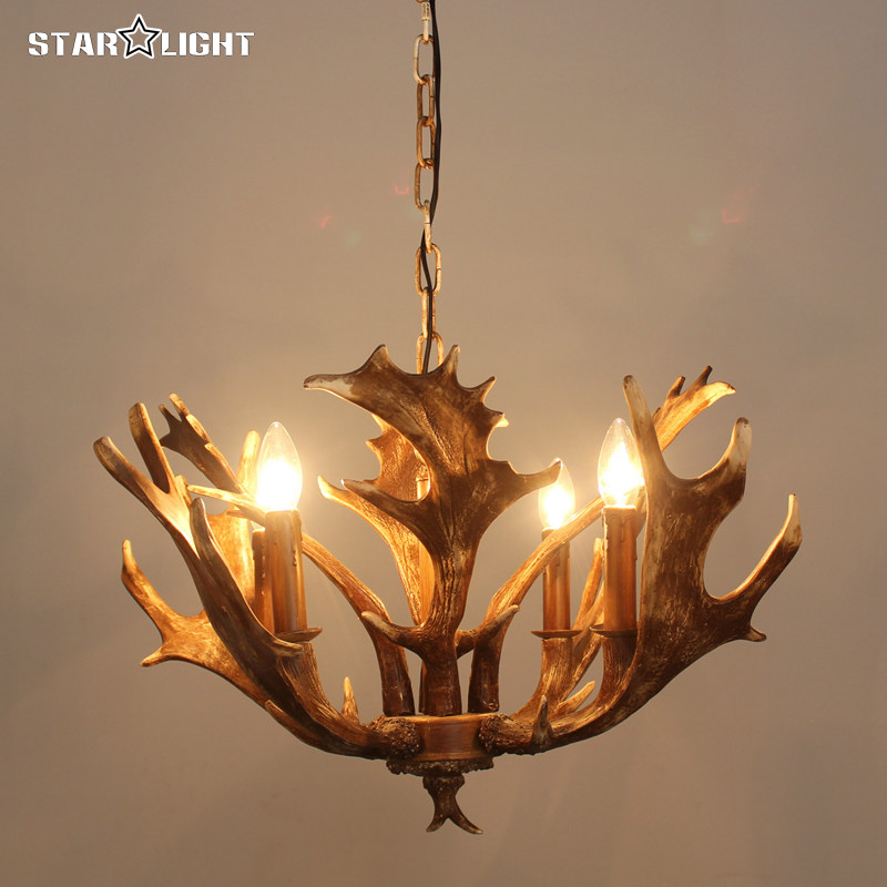 Unique moose Antler Lamp Pendant Chandelier 4 lights Antler Chandelier E14 Socket Chandelier Living High Quality Natural Resin(China (Mainland))